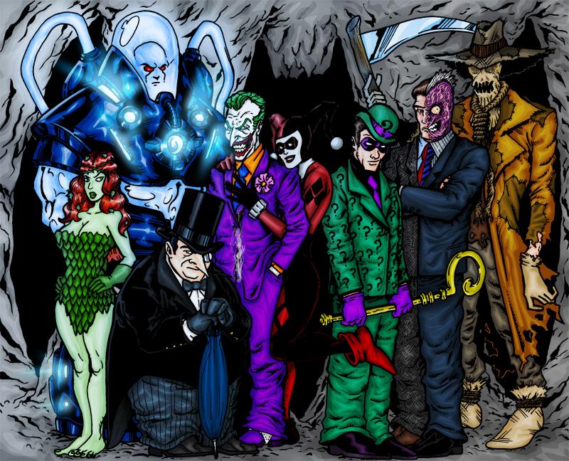Ok, PANIC!: Batman Villains