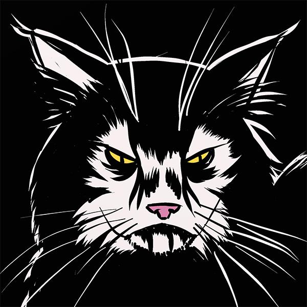 1259. Black Metal Cat