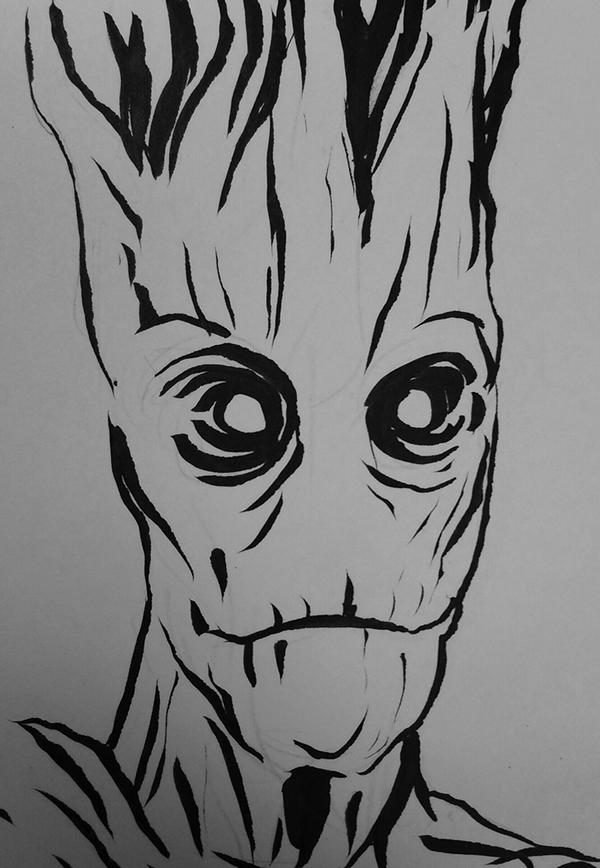 910. Groot & Iron Man