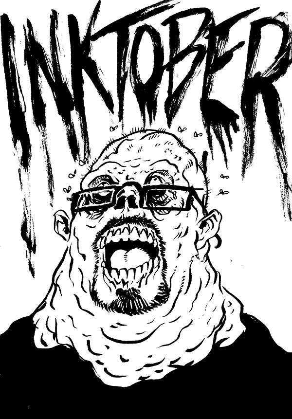 609. Inktober Self-Portrait