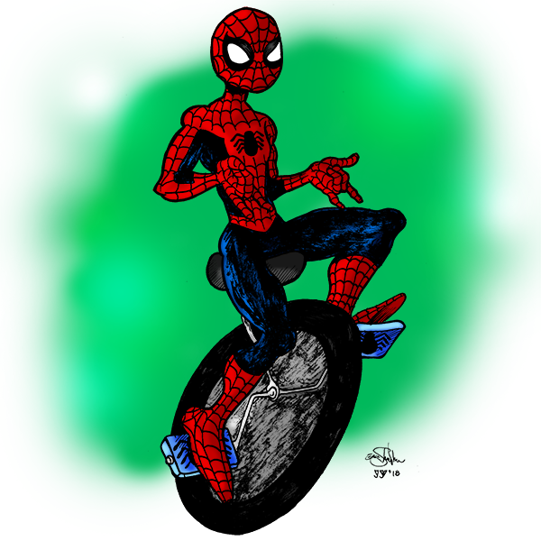 1399. Spider-Man Riding a Unicycle