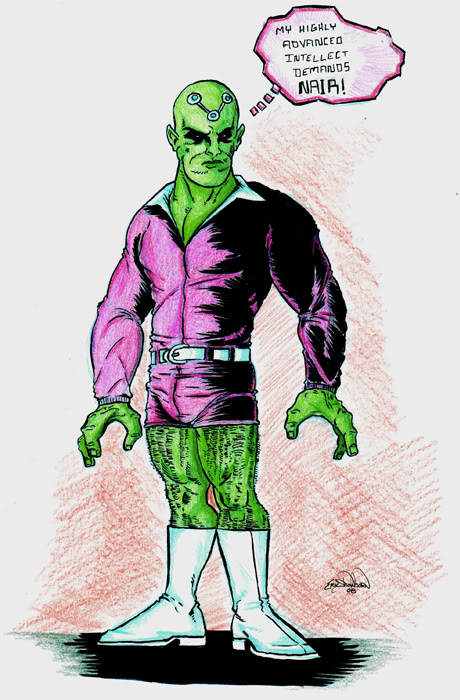Brainiac likes short shorts